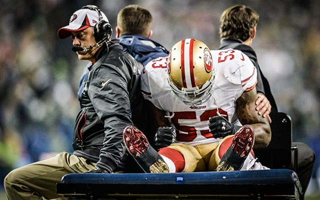 NaVorro Bowman carted off