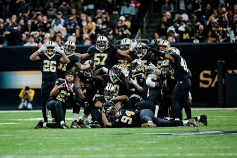 Saints Defense Posing