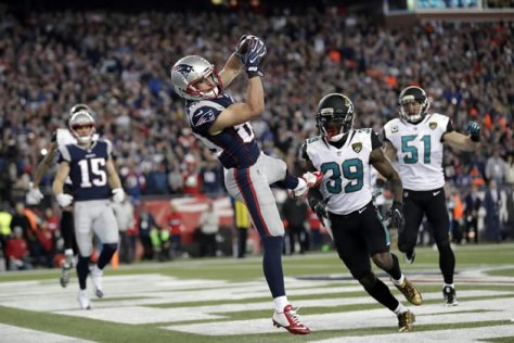 Amendola touchdown versus Jaguars in AFC Championship game