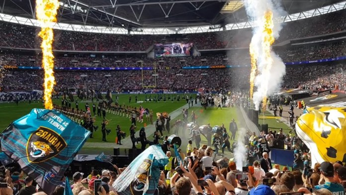 Wembley with Jaguars tunnel