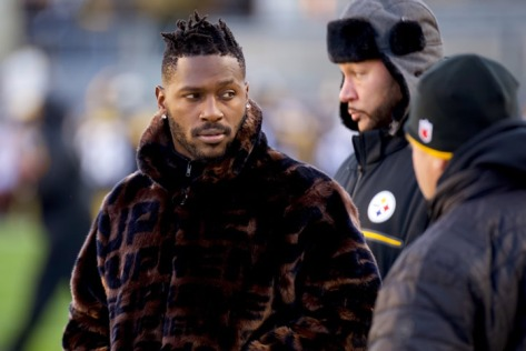 Antonio Brown in fur coat