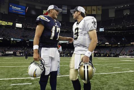 Philip Rivers and Drew Brees